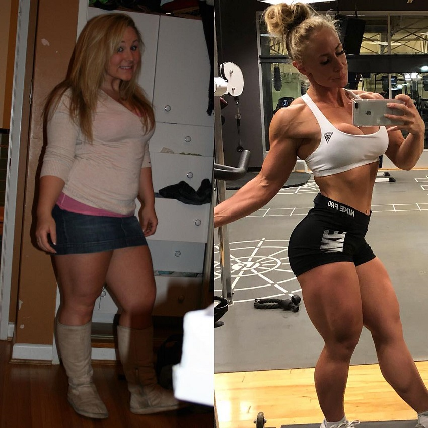 Jazmin Gillespie's transformation before-after
