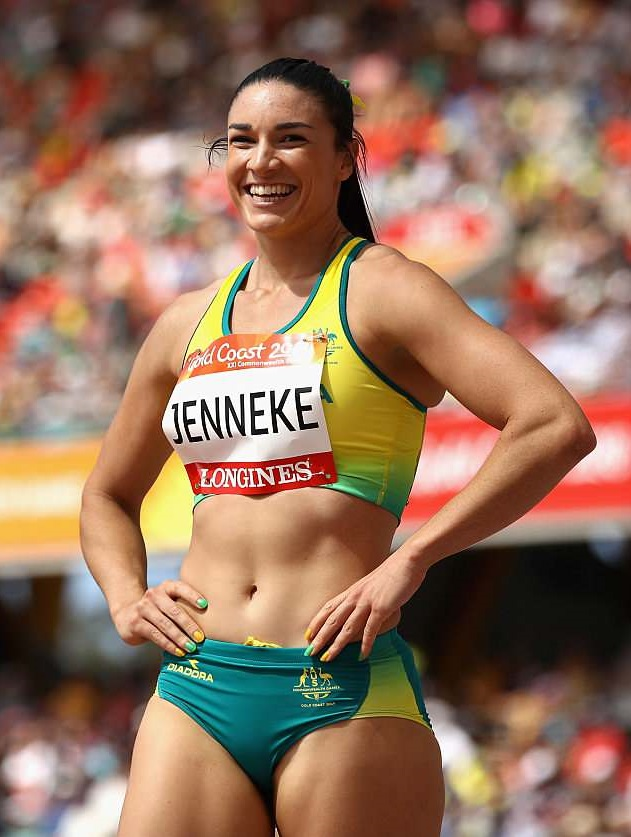 Michelle Jenneke smiling during a contest