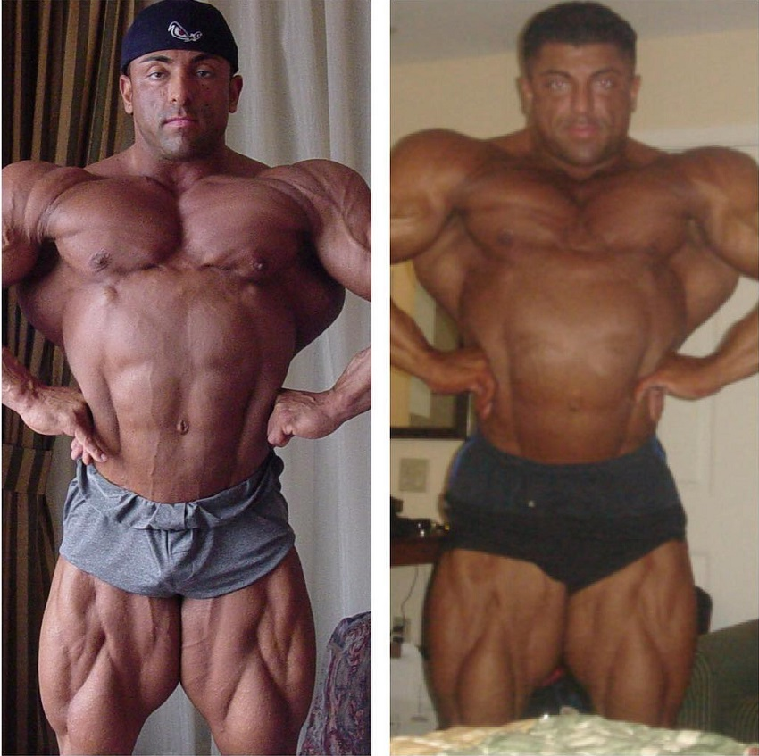 Shahriar Kamali's body transformation before and after