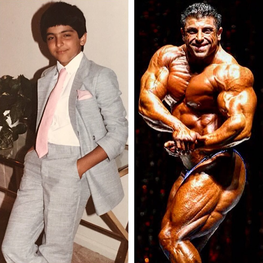 Shahriar Kamali's transformation from childhood to his bodybuilding days