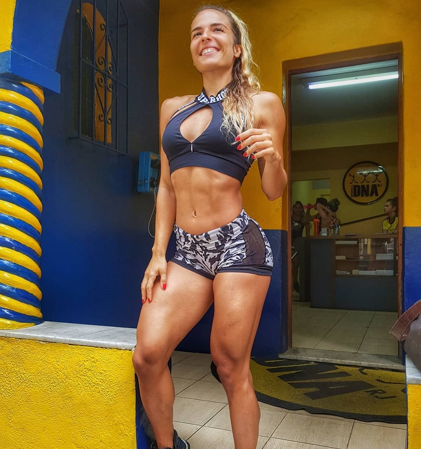 Vanessa Garcia smiling and looking fit and healthy in her sportswear
