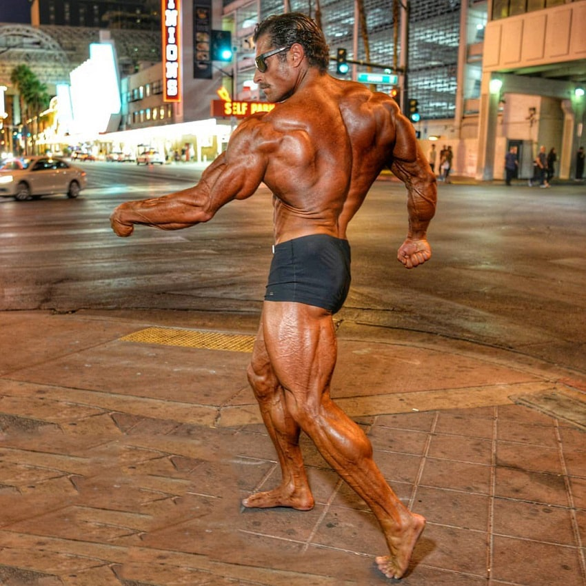 David Hoffmann posing on the streets of Vegas