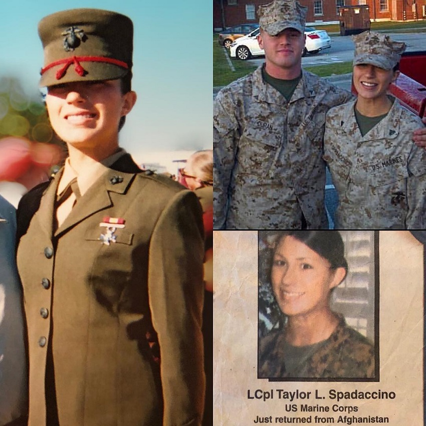 Taylor Spadaccino in the U.S. Marine Corps picture
