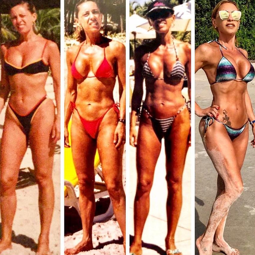 Adriana Miranda's transformation over the decades