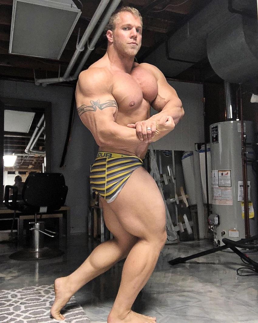 Brandon Beckrich doing a side chst pose