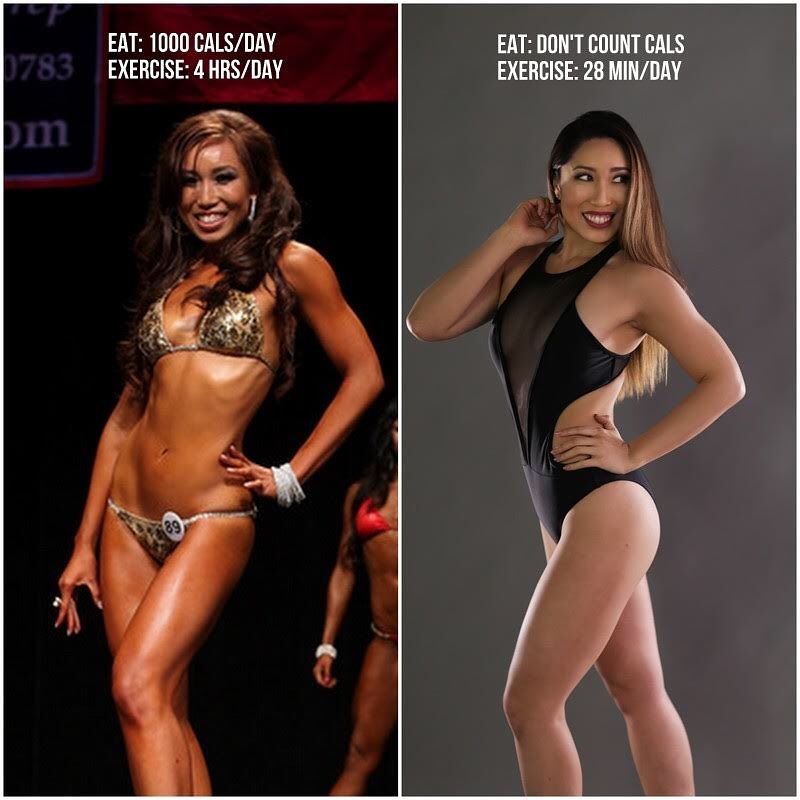 Cassey Ho body fitness transformation before-after