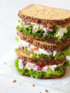 Chicken salad on wholemeal