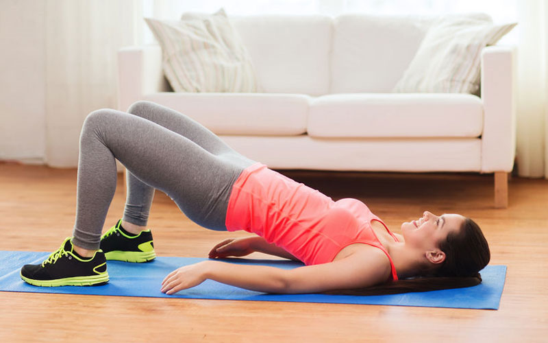 HIIT-workout-home-glute-bridge