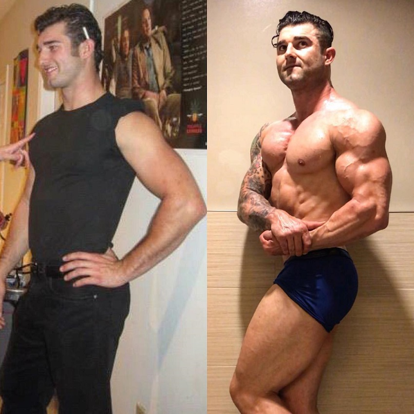 Jase Stevens' transformation before-after