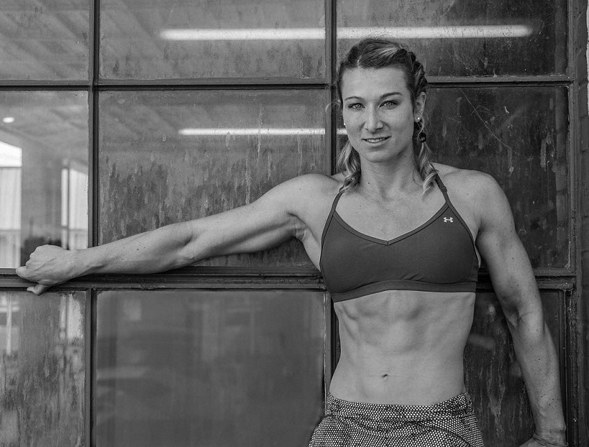Jessie Graff posing for a photo looking lean and fit