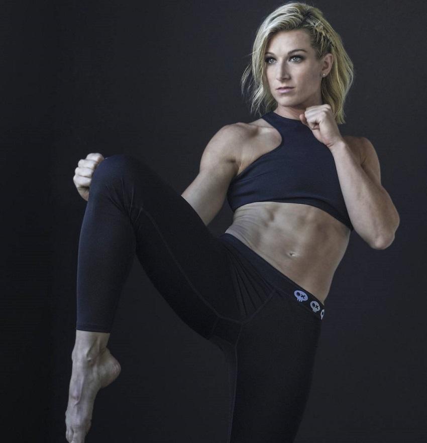 Jessie Graff practicing karate