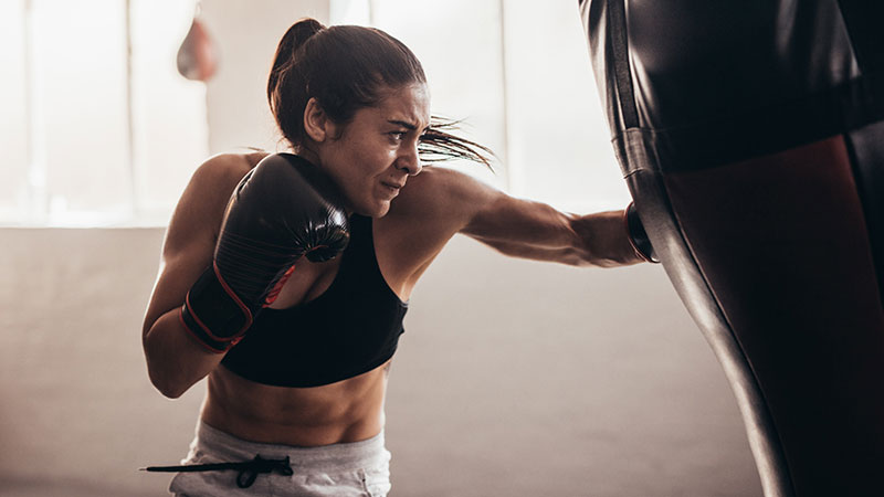 Woman-HIIT-home-workout-boxing