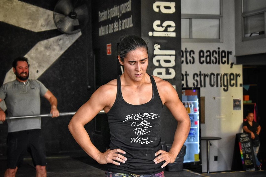 Yazmin Arroyo Loaiza looking exhausted from her intense CrossFit workout