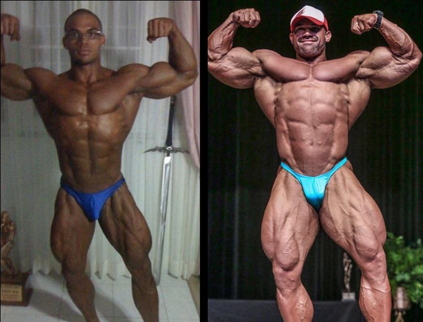 Alexis Rivera Rolon's bodybuilding transformation before-after