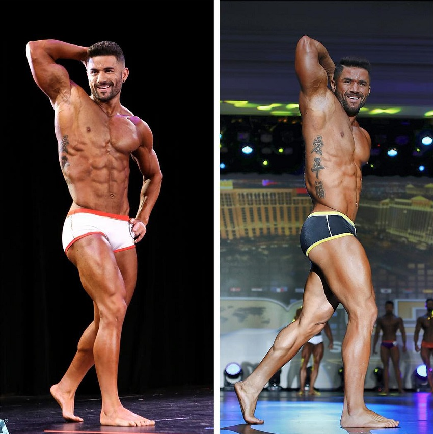 Bremen Menelli on the bodybuilding stage before and after
