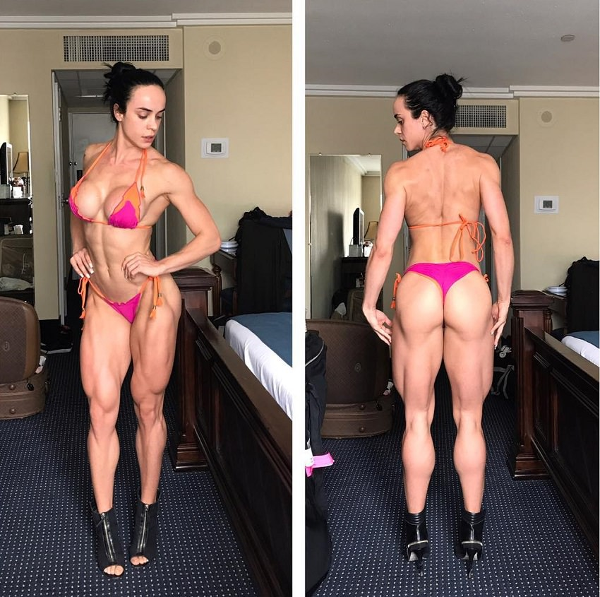 Catia Isabel posing for the photo looking lean and fit in her bikini