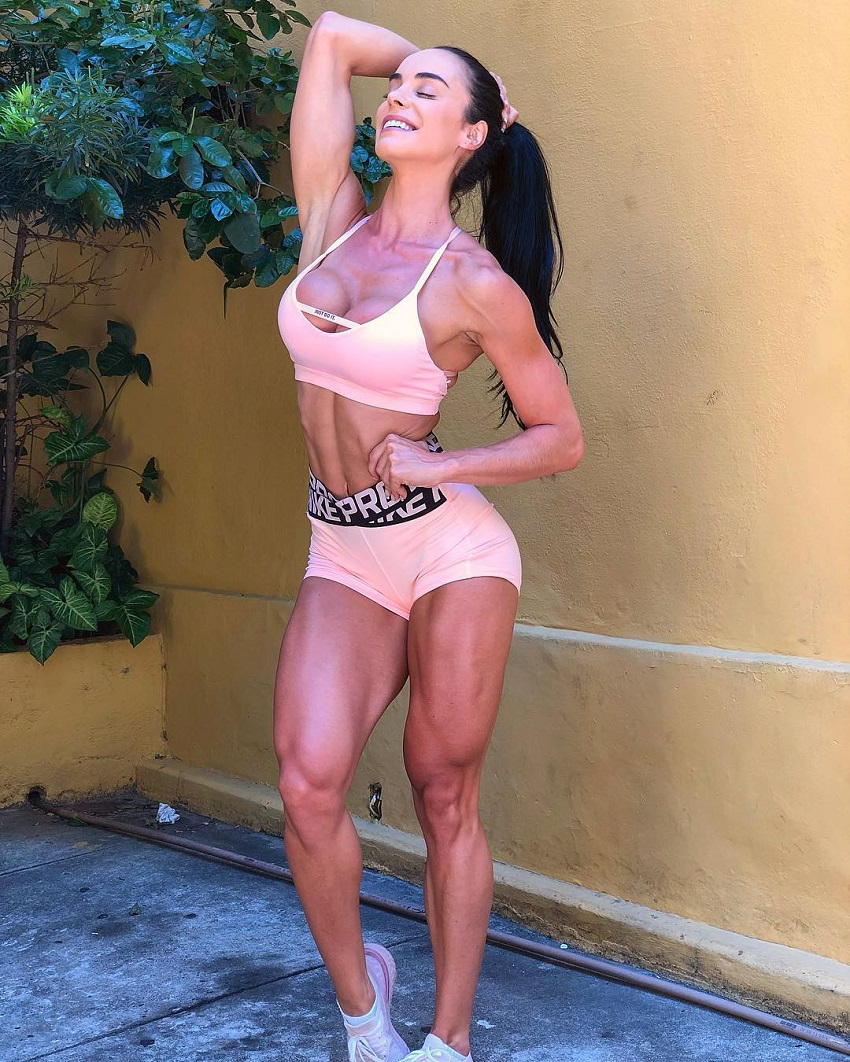 Catia Isabel smiling for the camera looking fit and lean