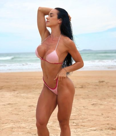 Catia Isabel posing on the beach looking lean and fit