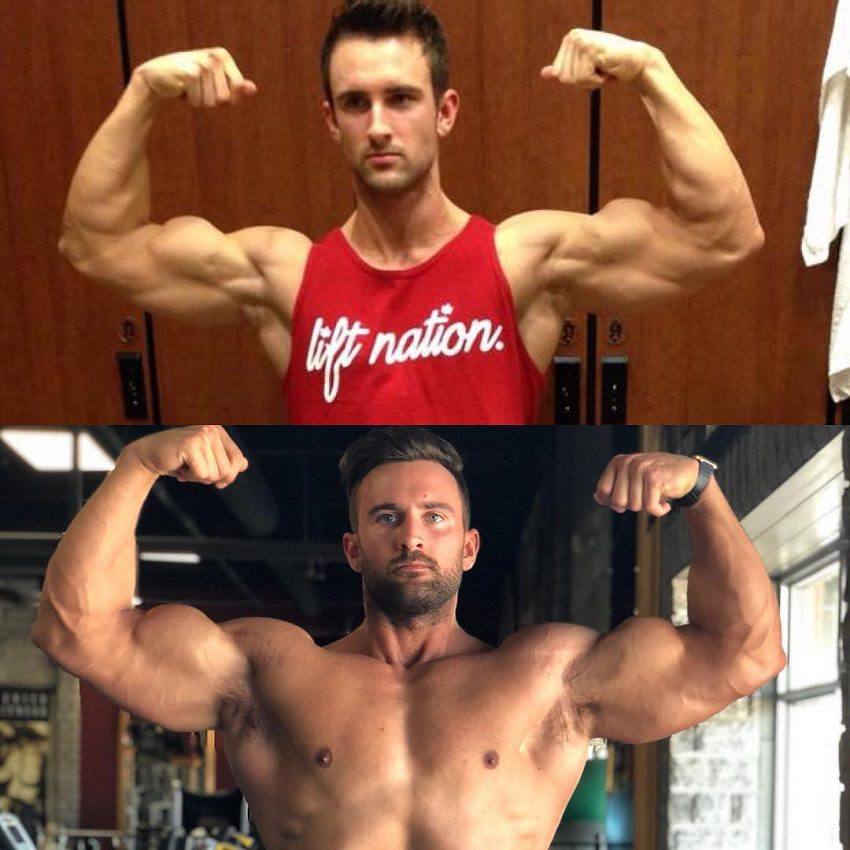 Dylan Thomas' bodybuilding transformation before and after