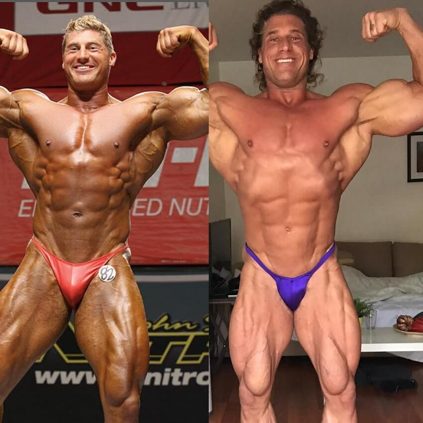 Gabe Moen's physique transformation in bodybuilding, before-after