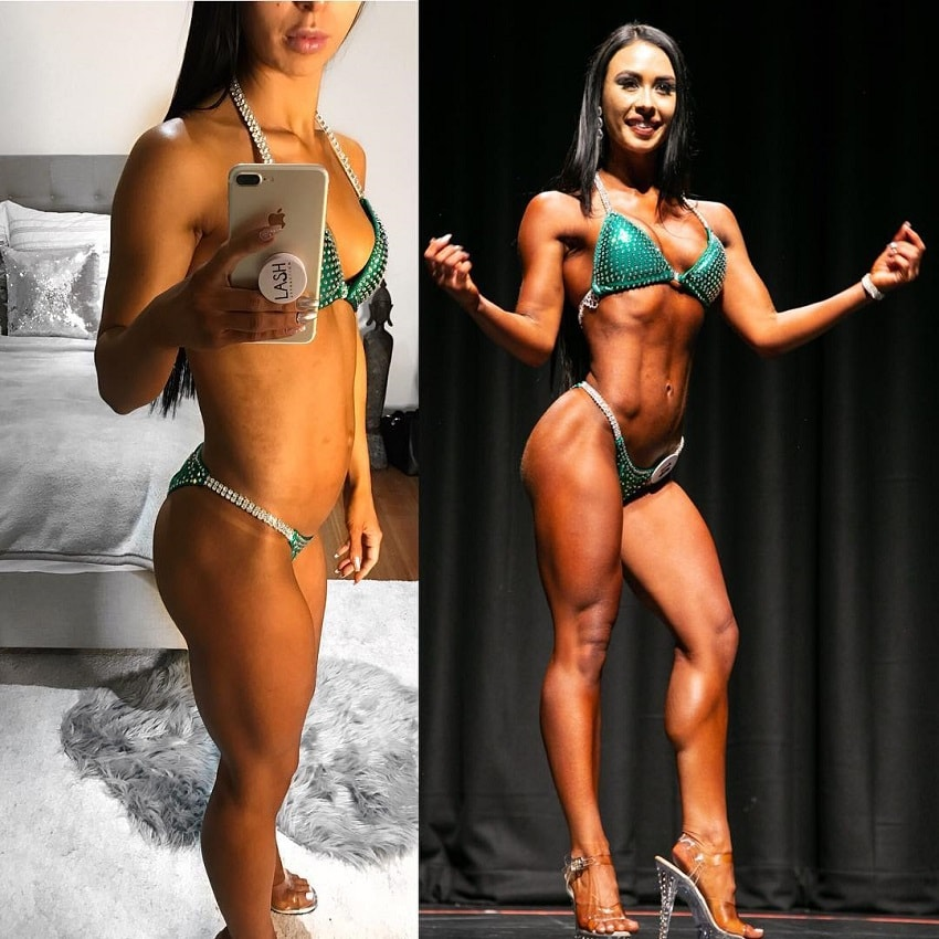 Katie Jean's bikini transformation before-after