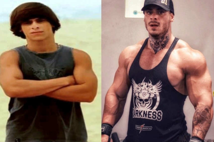 Leo Stronda's transformation from slim to muscular