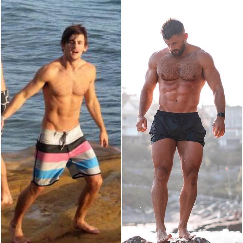 Nathan McCallum's body transformation before-after