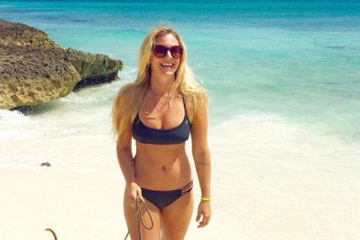 Rachel Brathen bikini photo on the beach