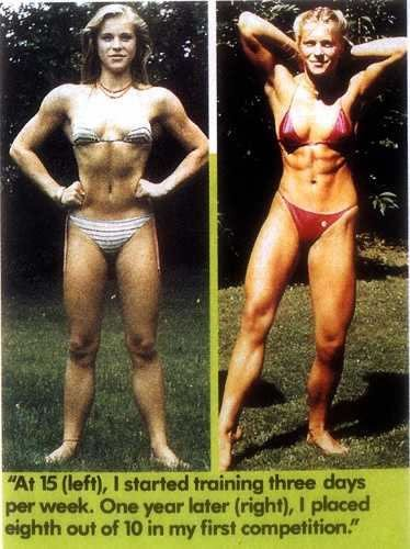 Anja Langer body transformation before-after