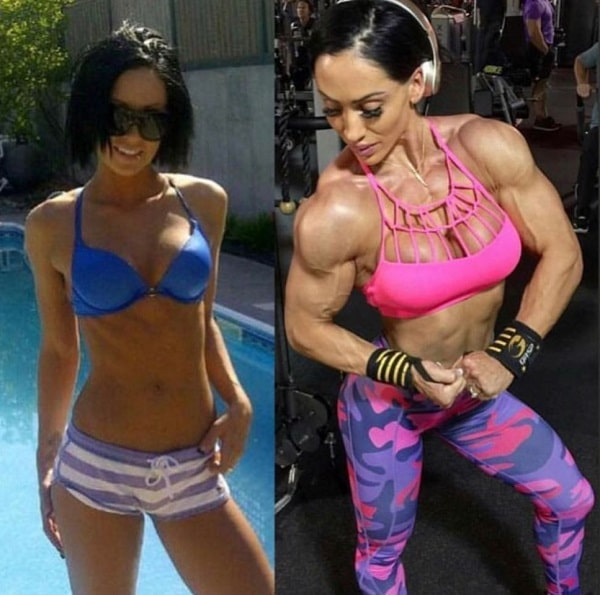 Azaria Glaim before-after fitness transformation