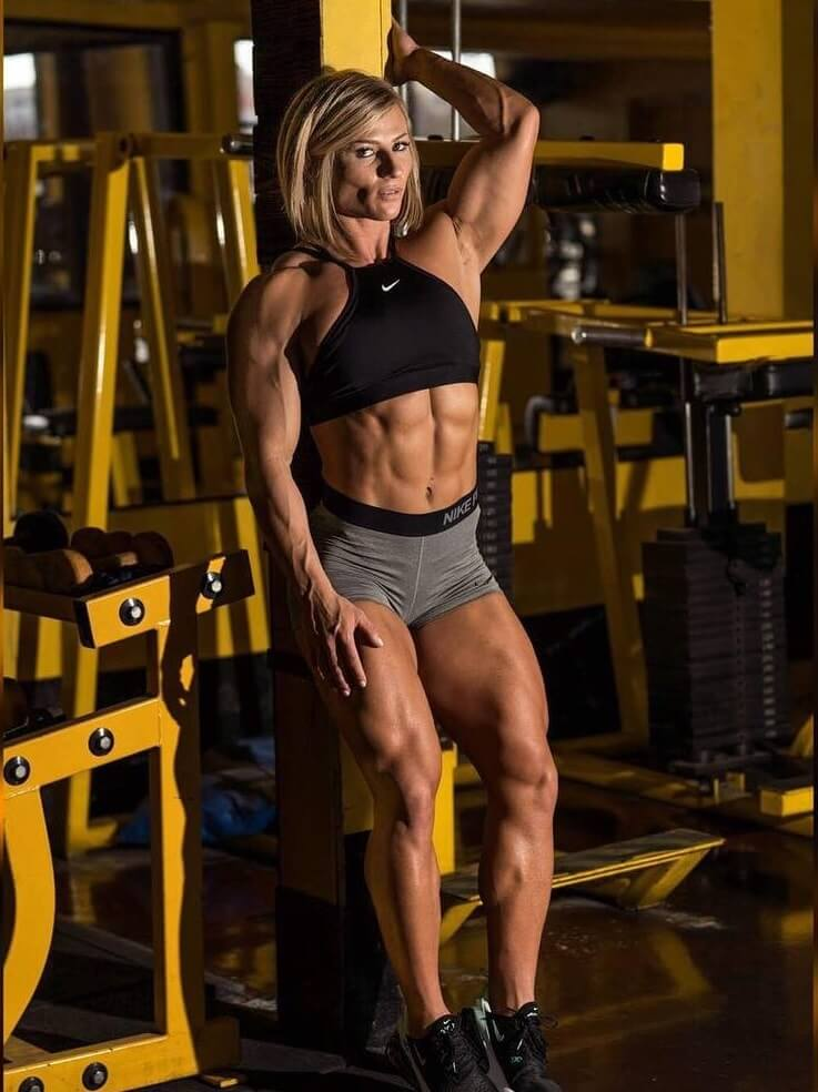 Brooke Walker posing in a fitness modeling photo shoot