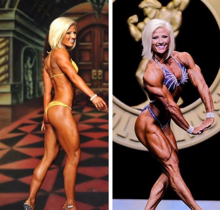 Brooke Walker transformation from bikini to women's physique