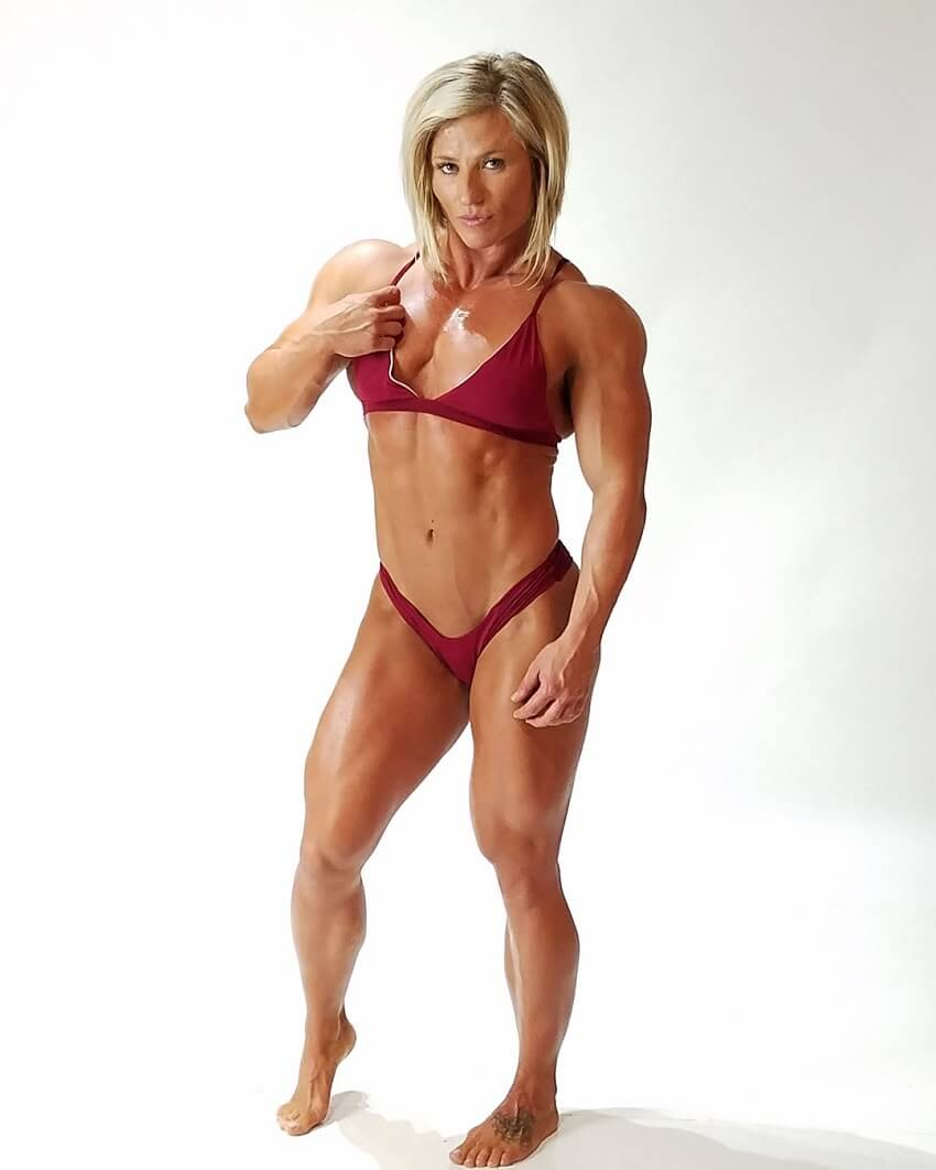 Brooke Walker posing in a fitness photo shoot