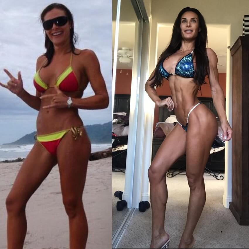 Camile Periat fitness transformation before-after