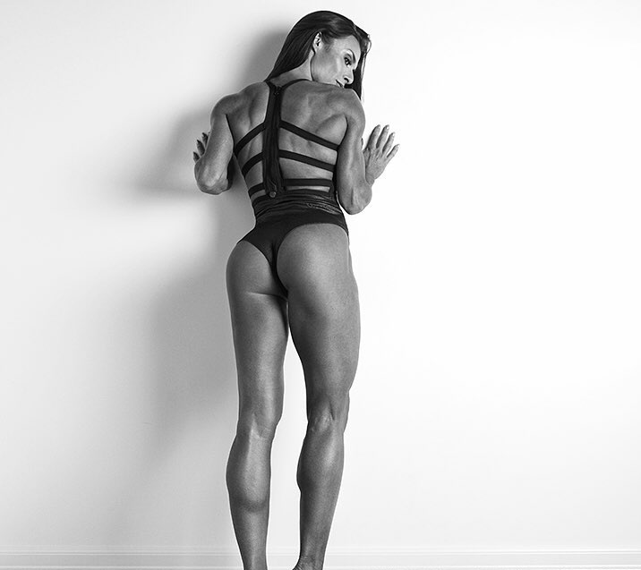 Camile Periat showcasing her toned physique in a photo shoot