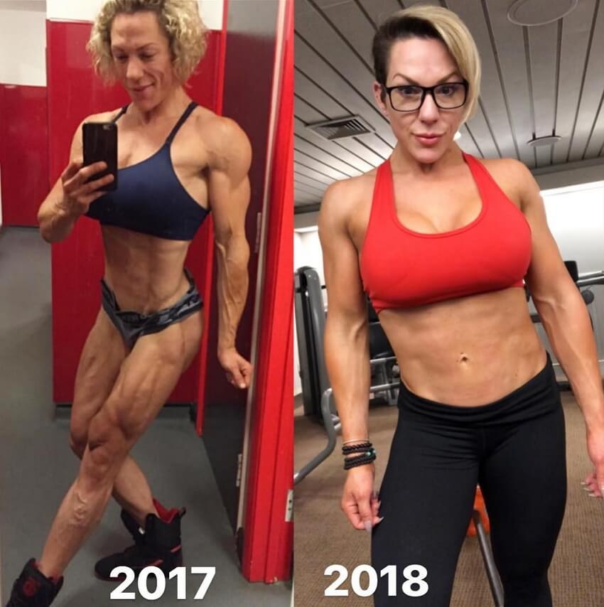 Carly Thornton fitness transformation 2017-2018