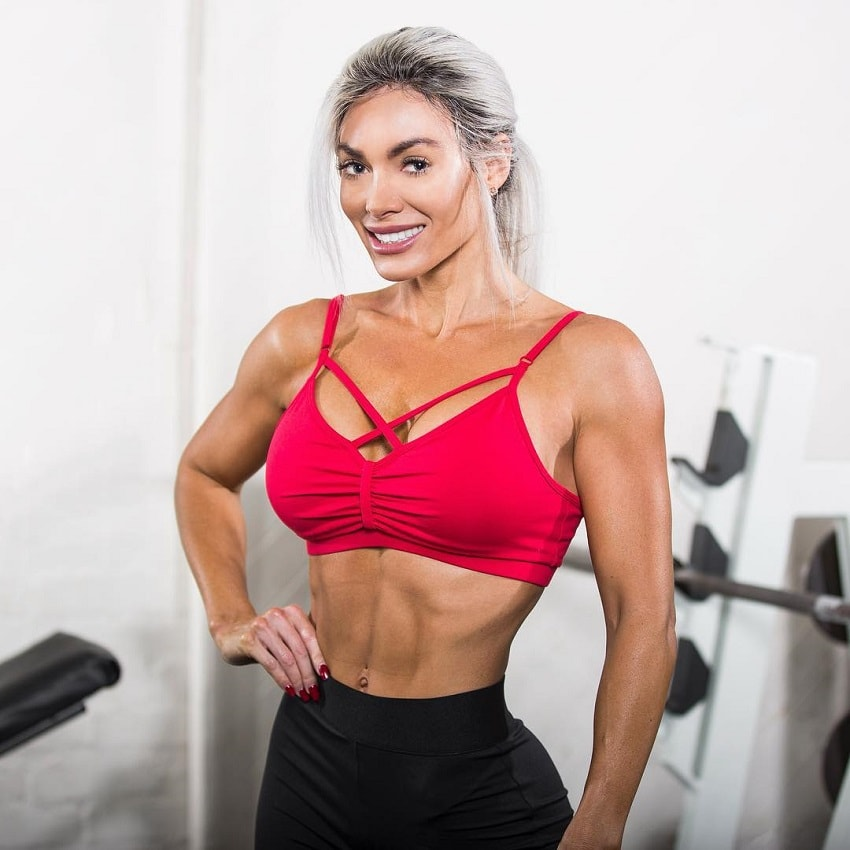 Danni Levy looking fit and lean in a photo shoot