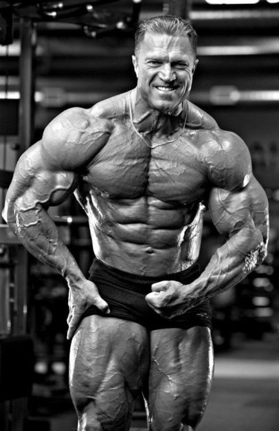 Gary Strydom performing the most muscular pose in a bodybuilding photo shoot, his best shape ever