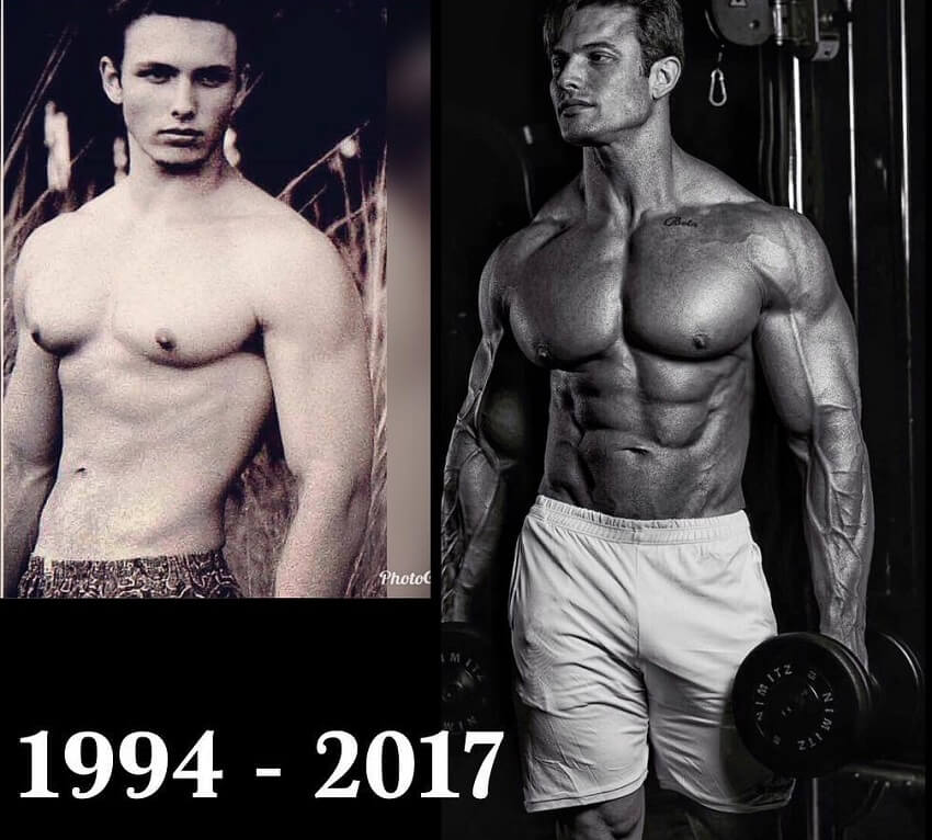 Paulo Muzy bodybuilding transformation before-after