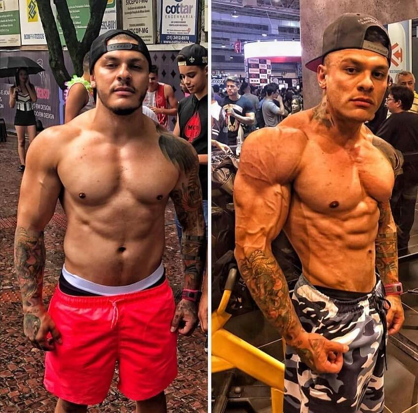 Tiago Toguro's bodybuilding transformation before-after