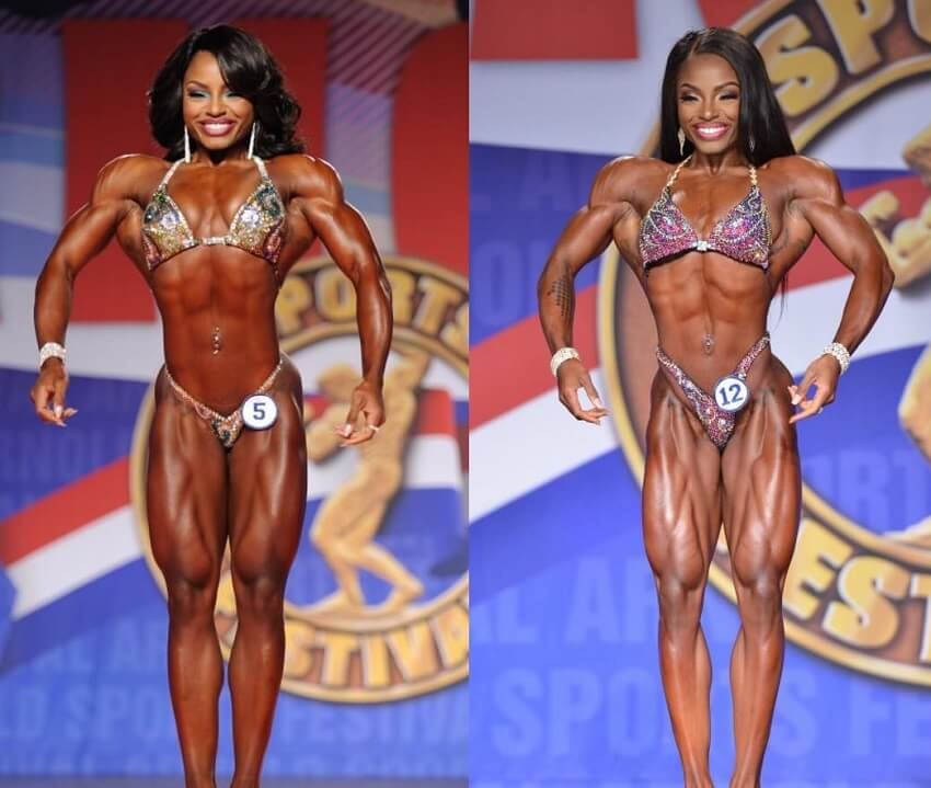 Cydney Gillon's transformation in bodybuilding before-after