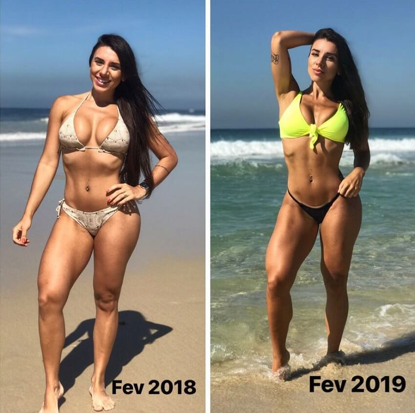 Fabriny Storck fitness transformation before-after