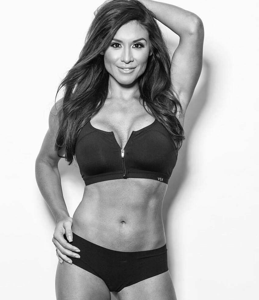 Felicia Romero posing with her lean body