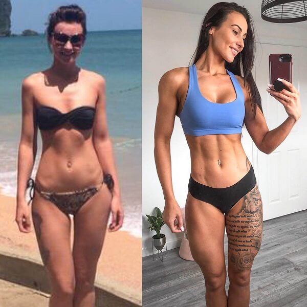 Lisa Lanceford's fitness journey before-after