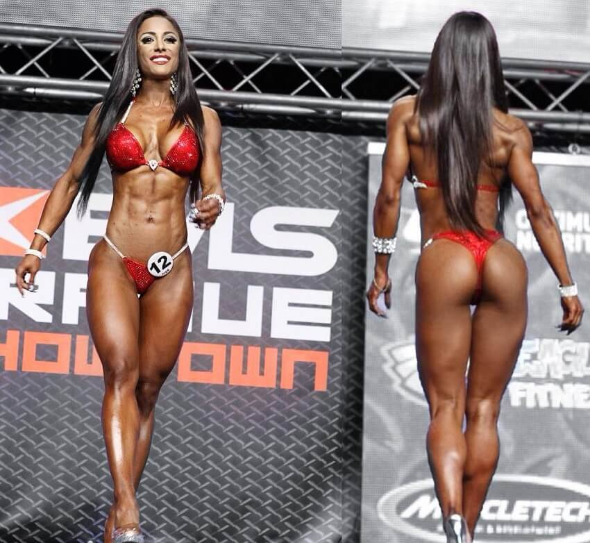 Maria Paulette posing on the bikini stage
