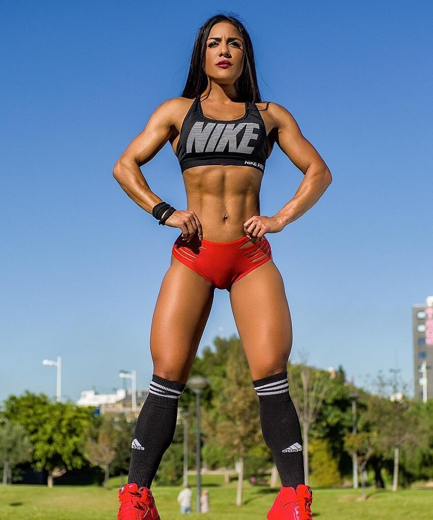 Maria Paulette posing in a nike sports outfit