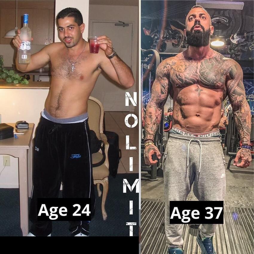 Jack Torosian's body transformation age 24-37