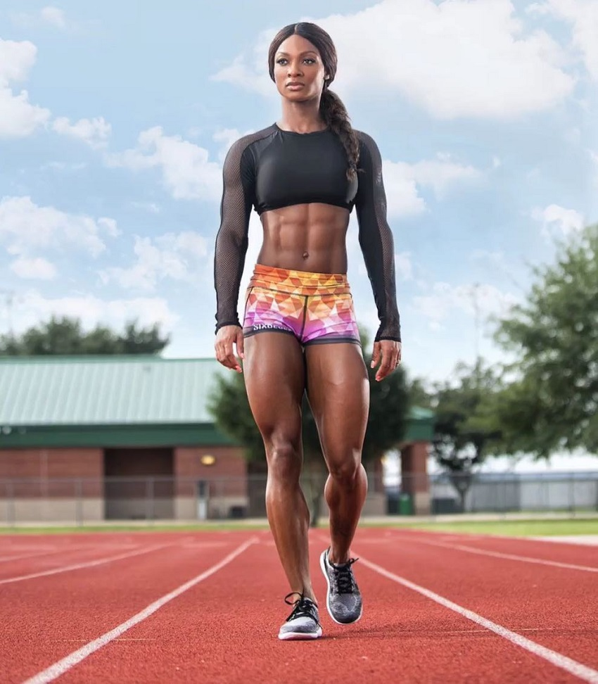Candice Carter walking on a track field