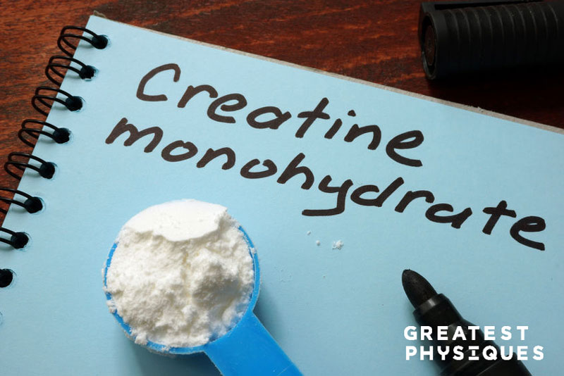 Scoop of creatine monohydrate