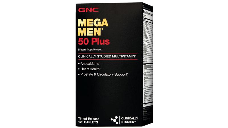 Box of GNC Mega Men 50 Plus best multivitamin